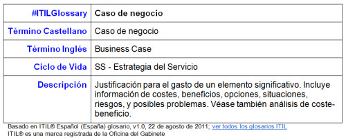 Itilglossary proactivanet blog p gina 2 - Business case ejemplo ...